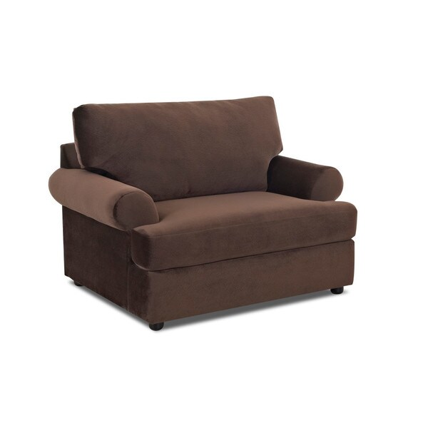 Klaussner Furniture Briggs Chocolate Brown Polyester Big Lounge Chair