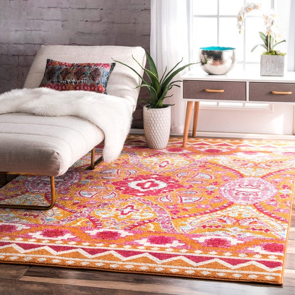 nuLOOM Bohemian Abstract Multi Rug (8' x 10')