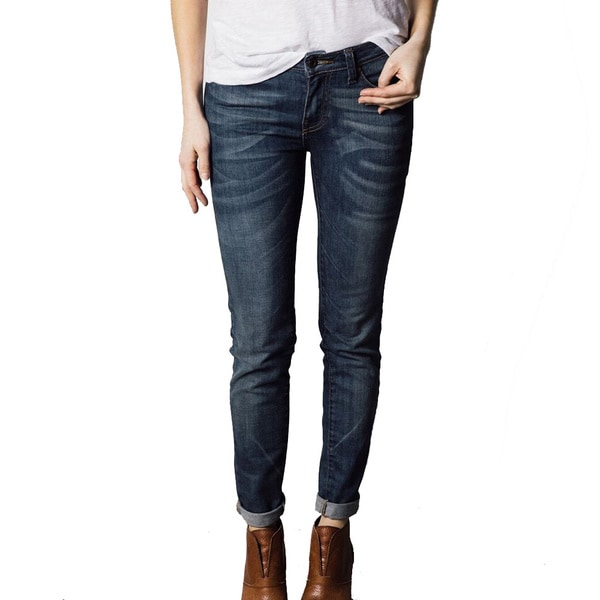 1791 Supply & Co Women's Skinny Leg Vintage Wash Denim Jeans