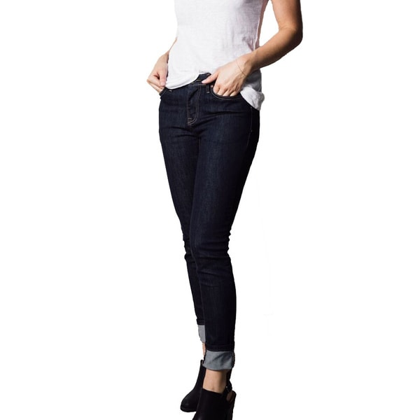 1791 Supply and Co Women's Dark Rinse Denim Skinny-leg Jeans