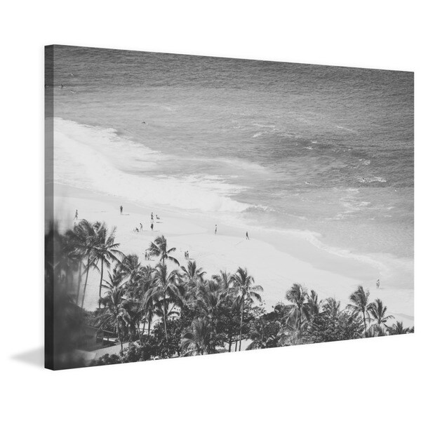 Marmont Hill - 'Throwback to Paradise' by Morgan J Hartley Painting Print on Wrapped Canvas