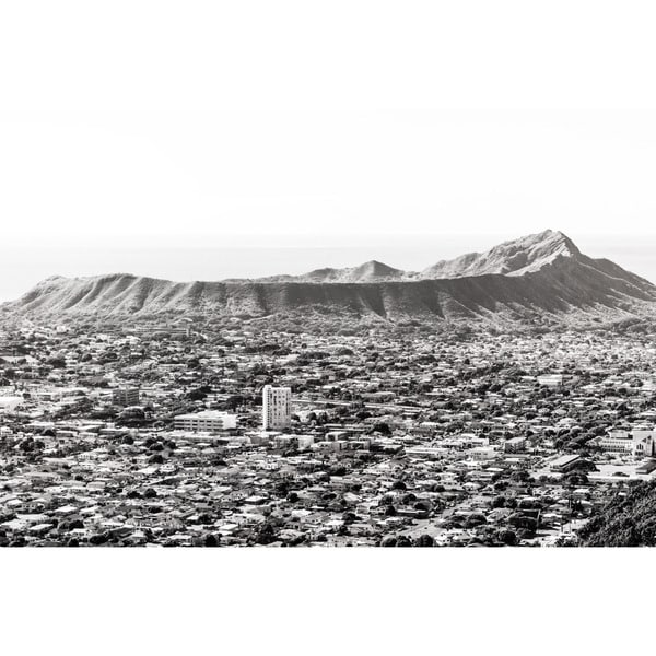 Marmont Hill - 'At the Feet of Diamond Head' by Morgan J Hartley Painting Print on Wrapped Canvas