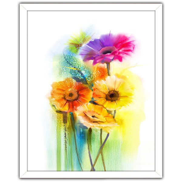 """Nothing But Flowers"" Framed Plexiglass Wall Art"