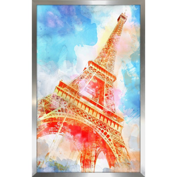 """A Place in Paris"" Framed Plexiglass Wall Art"