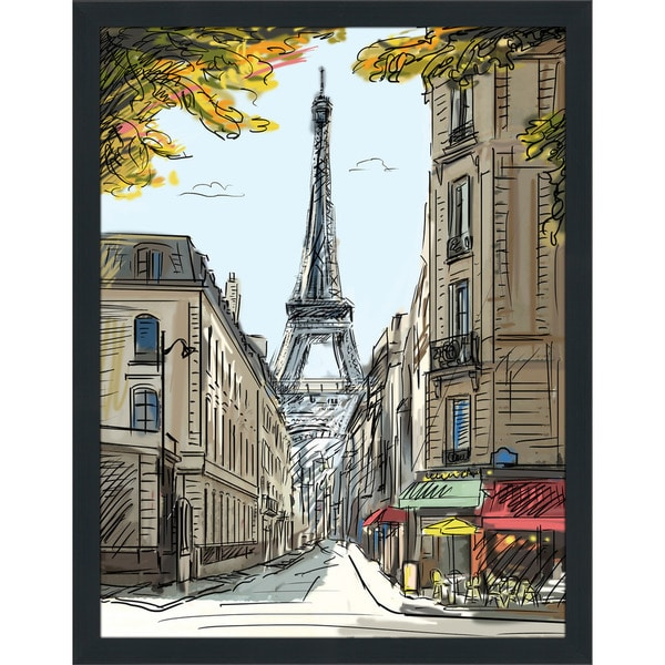 """Paris in the Evening"" Framed Plexiglass Wall Art"