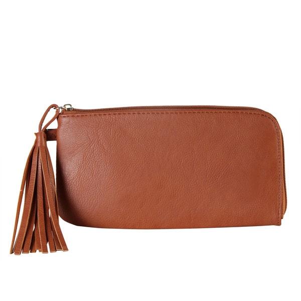 Diophy Faux Leather Tassels Wallet
