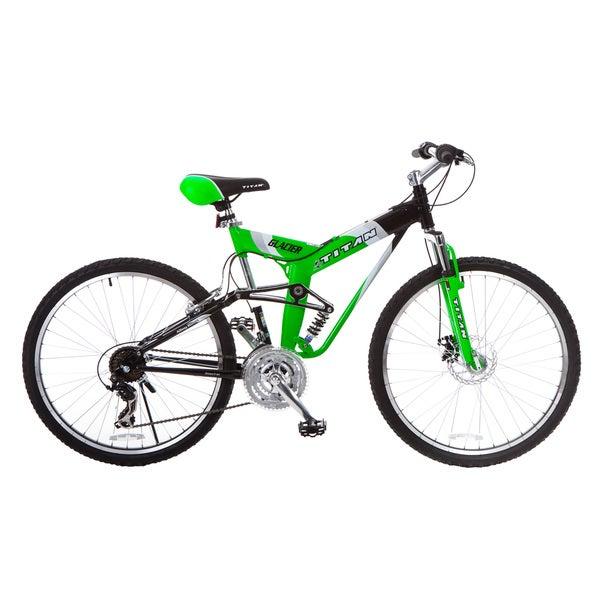 Titan Glacier Pro Men's Neon Green All-Terrain Mountain Bicycle (26 in.) 22190629