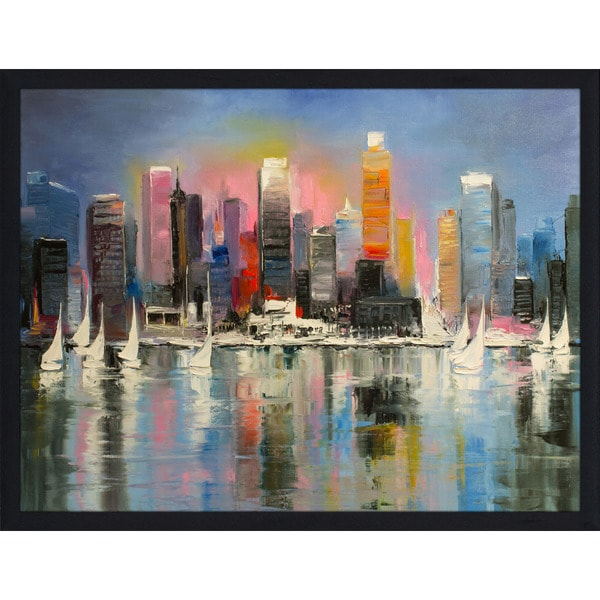 """City of Light"" Framed Plexiglass Wall Art"
