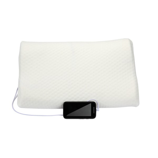 1 Voice Contour Memory Foam Pillow With Built-in Speakers