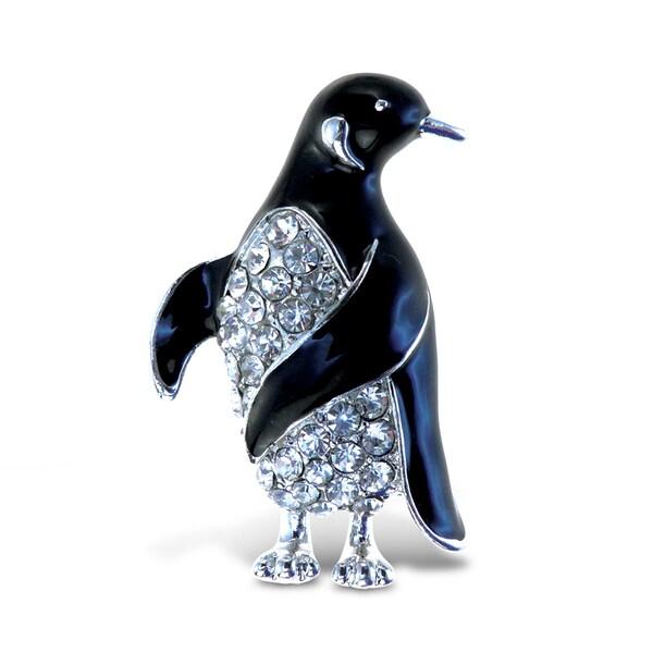 Puzzled Metal Penguin Sparkling Refrigerator Magnet 22191324