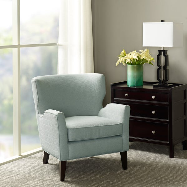 Madison Park Jude Light Blue Accent Chair