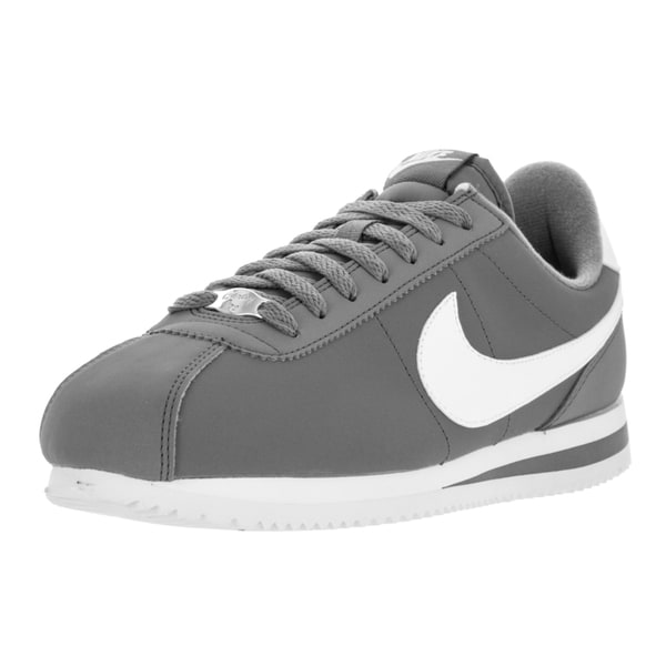 Nike Men's Cortez Basic Nbk Cool Grey/White/Metallic Silver Casual Shoe