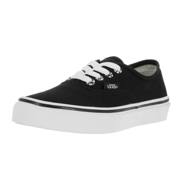 Vans Kids Authentic Daisy Black/True White Skate Shoes