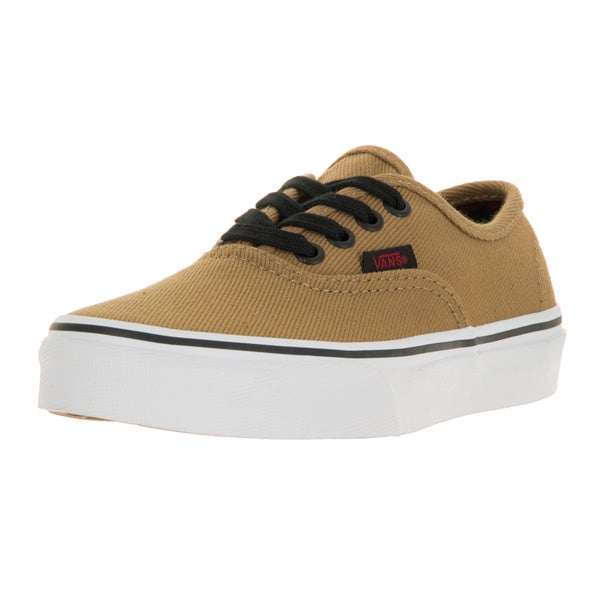 Vans Kids' Authentic Twill and Gingham Cornstalk and Black Canvas Skate Shoes