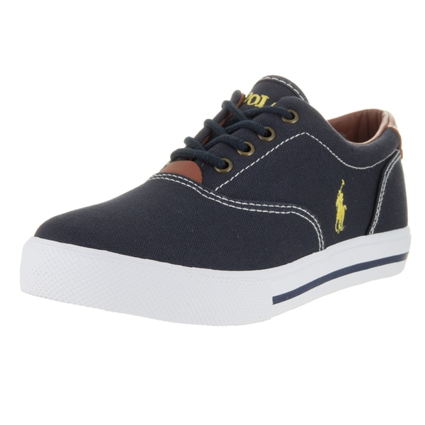 Polo Ralph Lauren Kids' Vaughn Navy Canvas Casual Shoes