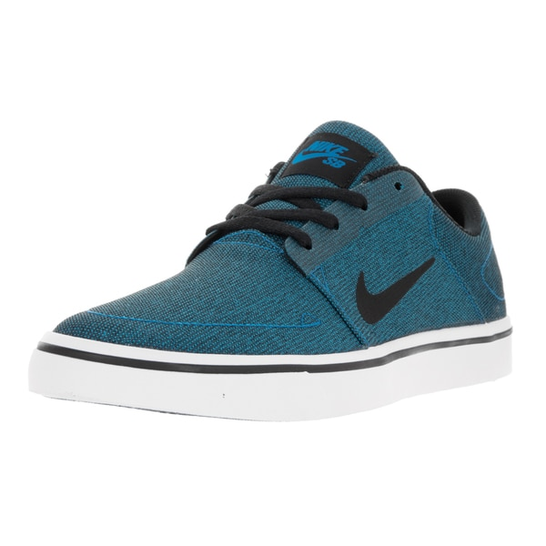 Nike Men's SB Portmore Cnvs Photo Blue/Black White Skate Shoe