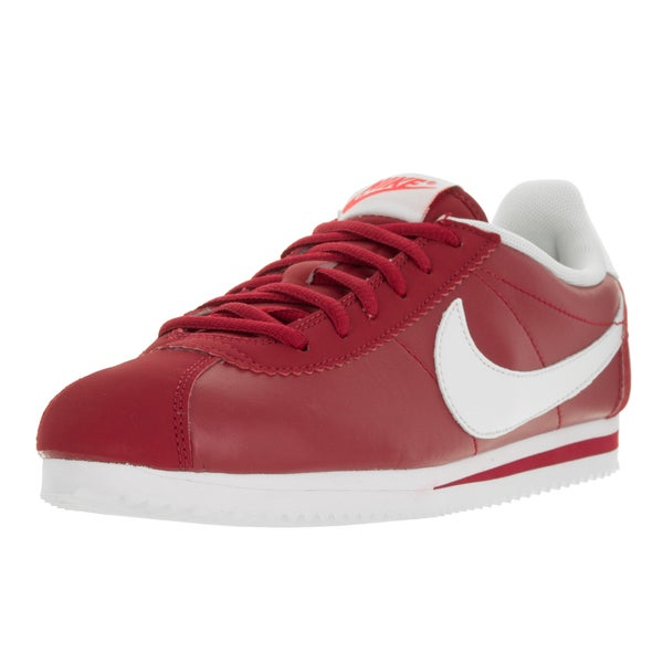 Nike Kids' Cortez (GS) Gym Red andWhite Leather Casual Shoes