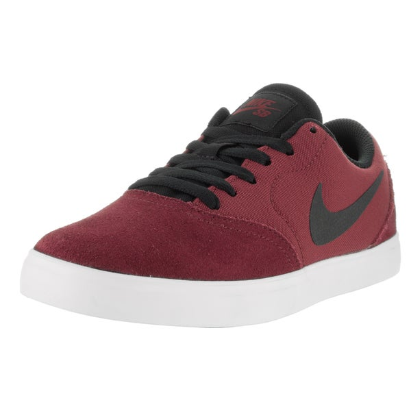 Nike Kids' Sb Check (GS) Team Red and Black Suede Skate Shoes