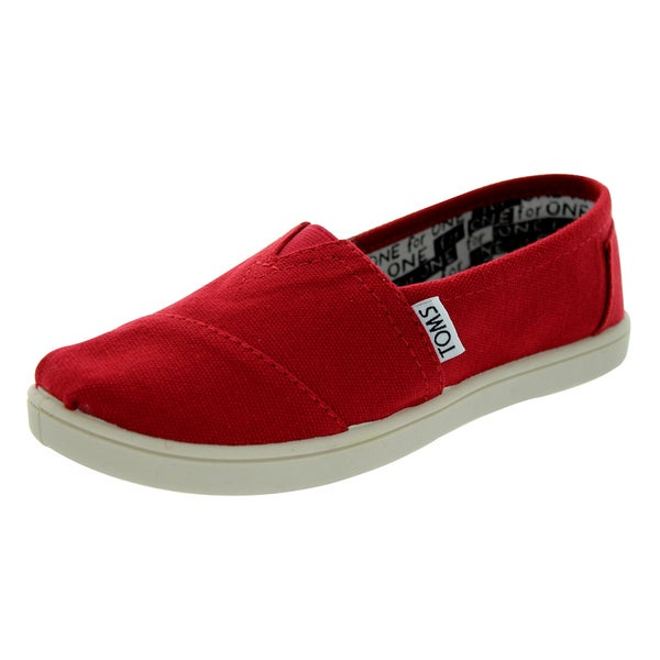 Toms Youth Classics Red Canvas Casual Shoes