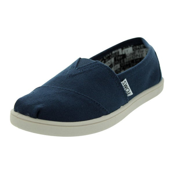 Toms Kids' Classics Youth Navy Canvas Casual Shoes