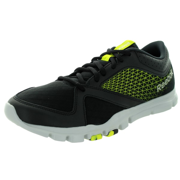 Reebok Men's Yourflex Train 7.0 Limited Edition Black/Yellow/Steel/Gravel Training Shoe