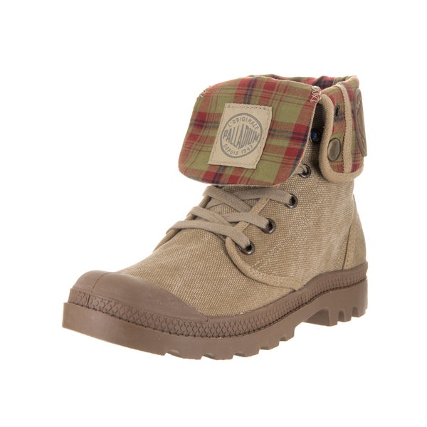 Palladium Kids' Baggy Stone Dark Khaki Boot