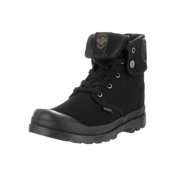 Palladium Kids' Baggy Black on Black Canvas Boots