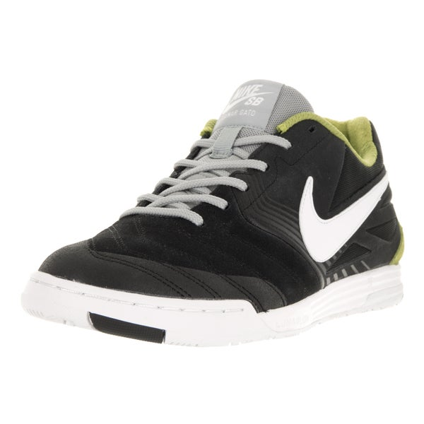 Nike Men's SB Lunar Gato Black/White Venom Green Bs Gry Skate Shoe