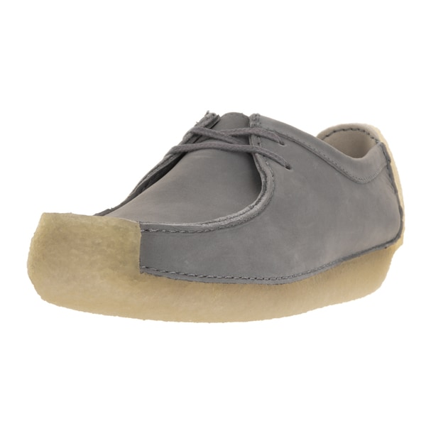 Clarks Men's Natalie Blue and Grey Nubuck Casual Shoes
