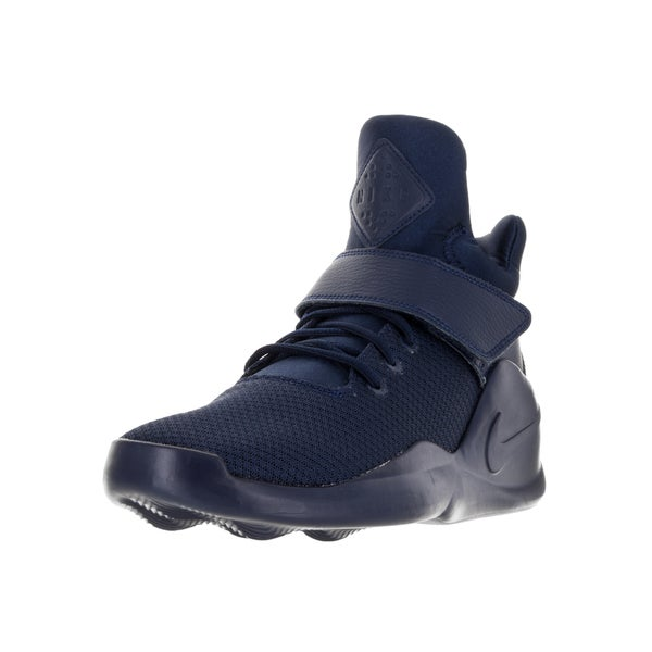 Nike Men's Kwazi Midnight Navy Fabric Basketball Shoes