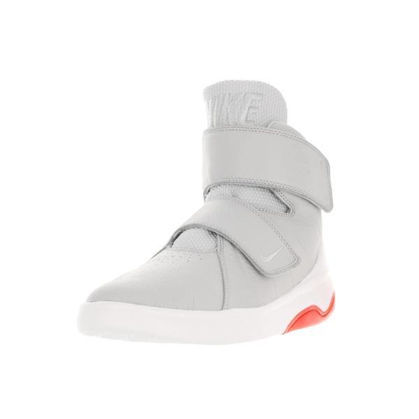 Nike Kids Marxman Grey Synthetic Leather Basketball Shoe