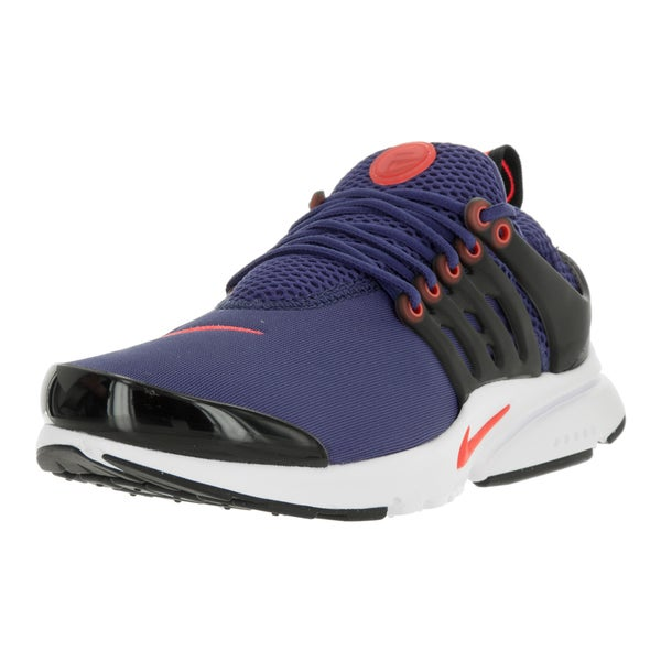 Nike Kids' Air Presto Purple, Crimson, White, and Black Plastic Running Shoes