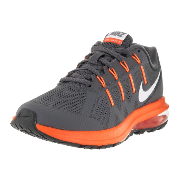 Nike Kids' Air Max Dynasty (GS) Dark Grey/White/Total Orange Running Shoes