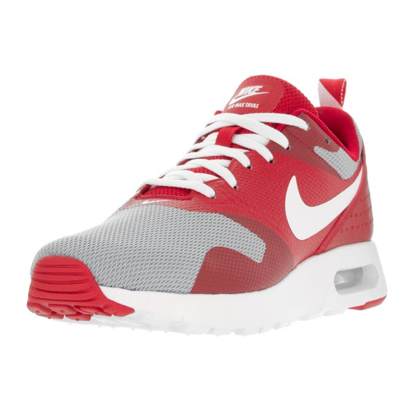 Nike Kids' Air Max Tavas University Red, White, and Wolf Grey Synthetic Running Shoes