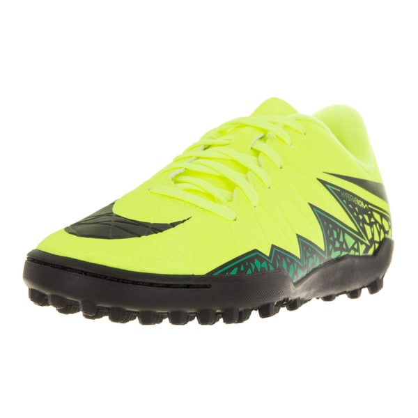 Nike Kids Jr Hypervenom Phelon II Yellow Plastic Soccer Shoe