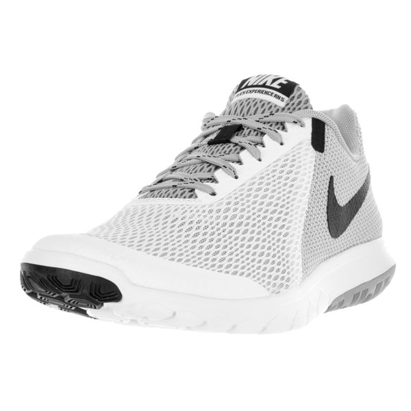 Nike Men's Flex Experience Rn 5 White/Black Wolf Grey Running Shoe