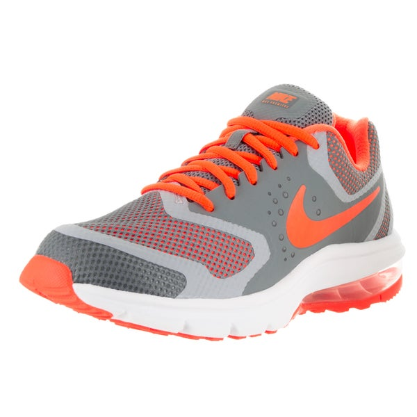 Nike Kid's Air Max Premiere Run GS Grey/Orange/White Plastic Running Shoes