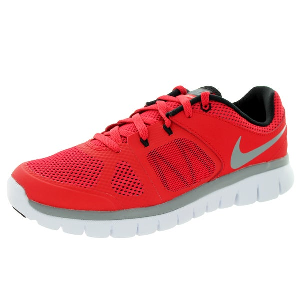 Nike Kids' Flex 2014 Rn (GS) Red, Grey, Black, and White Plastic Running Shoes