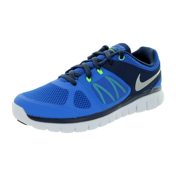 Nike Kids' Flex 2014 RN GS Hyper Cobalt/Metallic Silver/Midnight Navy Running Shoes