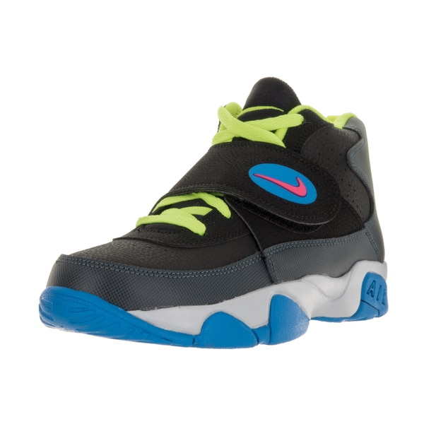 Nike Kids Air Mission Black Synthetic Leather Training Shoe