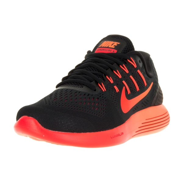 Nike Men's Lunarglide 8 Black/Multi Clr Tm Rd Ttl Crmsn Running Shoe