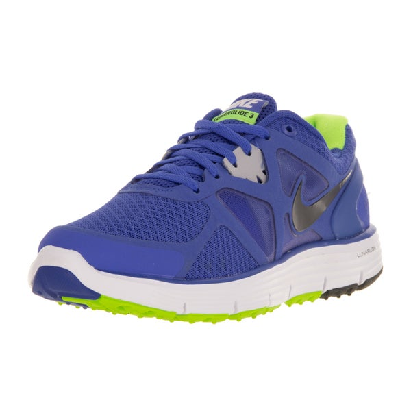 Nike Kids Lunarglide 3 (GS) Mega Blue/Black/White/Wlf Grey Running Shoe