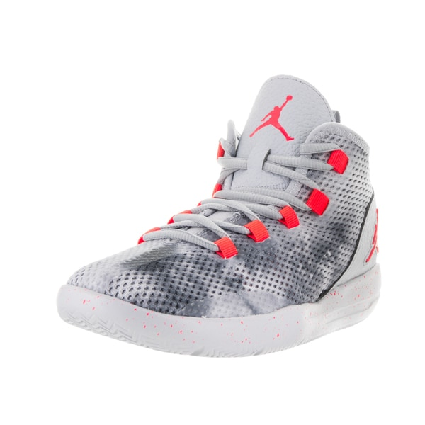 Nike Jordan Kids Jordan Reveal Grey and Red High-top Basketball Shoes