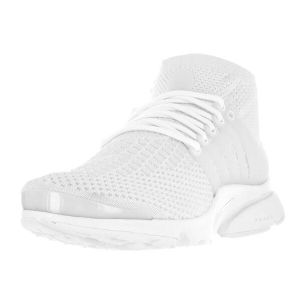 Nike Men's Air Presto Flyknit Ultra White/White/White/Ttl Crimson Running Shoe