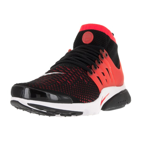 Nike Men's Air Presto Flyknit Ultra Black/Bright Crimson/White Running Shoe