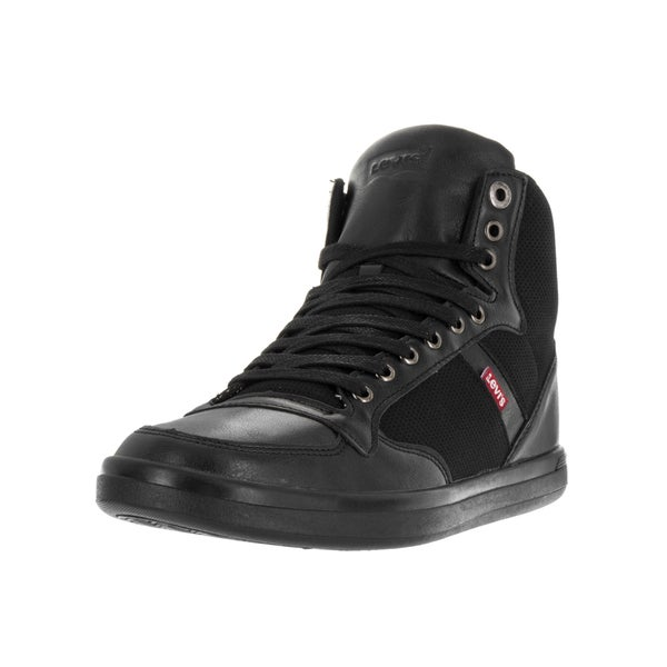 Levi's Men's Wesley Hi Micro Perf Black Mono Chrome Casual Shoe