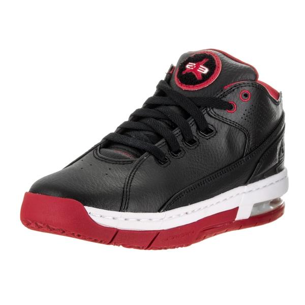 Nike Jordan Kids Jordan Ol'School Low BG Black/Gym Red White Basketball Shoe