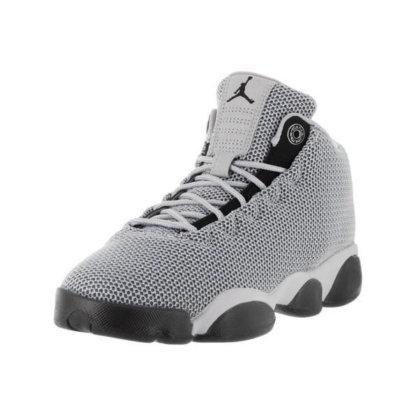Nike Jordan Kids' Jordan Horizon Low Grey and Black Textile Basketball Shoes