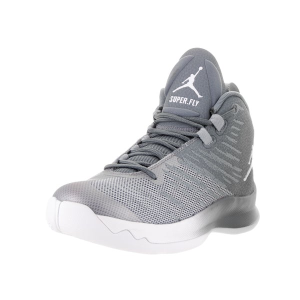 Nike Jordan Kids Jordan Super Fly Grey Textile Basketball Shoe