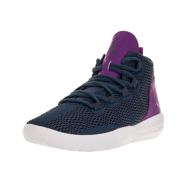 Nike Jordan Kids Blue/Purple/White Plastic Basketball Shoe